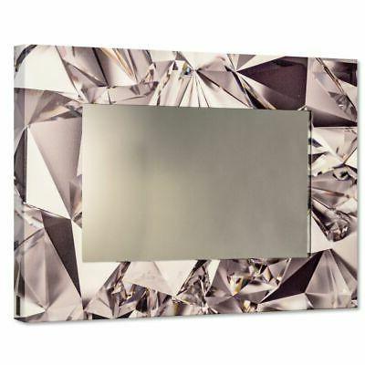 Diamonds Specchio Da Parete Moderno Con Cornice